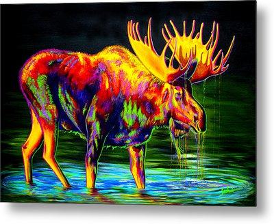 Motley Moose Metal Print by Teshia Art
