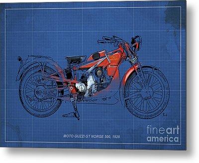 Moto Guzzi Gt Norge 500 1928 Metal Print by Pablo Franchi