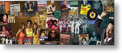 Motown Music Panoramic Metal Print by Retro Images Archive