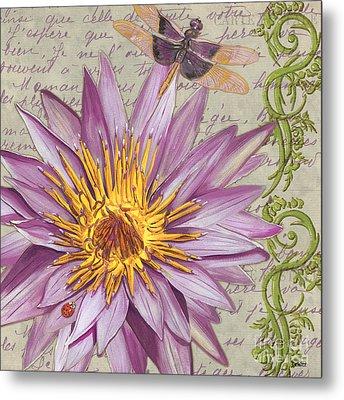 Moulin Floral 1 Metal Print by Debbie DeWitt