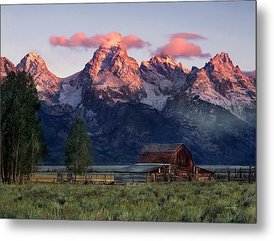 Moulton Barn Metal Print by Leland D Howard
