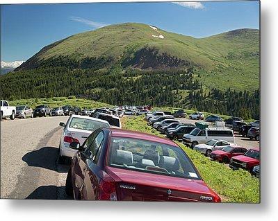 Mount Bierstadt Hiking Trail Car Park Metal Print by Jim West