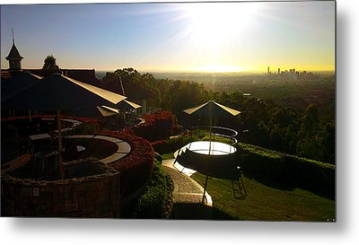 Mount Coot-tha Rising Metal Print by Edwin Vincent