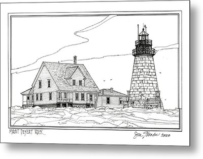 Mount Desert Rock Lighthouse Metal Print by Ira Shander