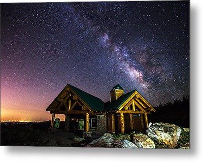 Mount Evans Visitor Cabin Metal Print by Darren  White