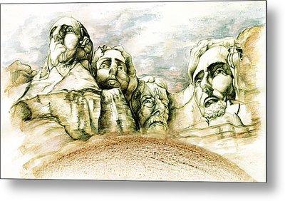 Mount Rushmore - Fine Art Metal Print by Art America Online Gallery