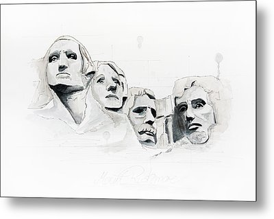 Mount Rushmore Metal Print by Astrid Rieger