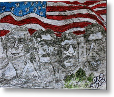 Mount Rushmore Metal Print by Kathy Marrs Chandler