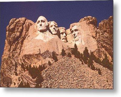 Mount Rushmore Red Metal Print by Art America Online Gallery