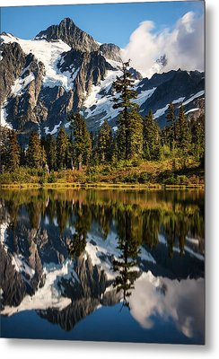 Mount Shuksan Reflections Metal Print by Alexis Birkill