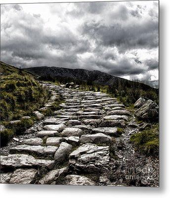 Mount Snowdon Path Metal Print by Jane Rix