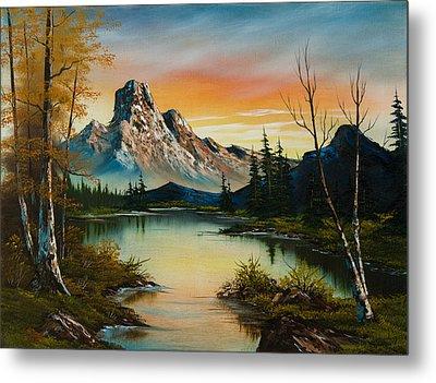 Sunset Lake Metal Print by C Steele