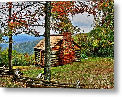 Mountain Cabin 1 Metal Print by Dan Stone