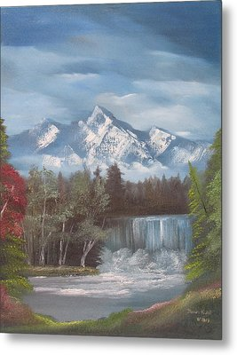 Mountain Dreams Metal Print by Dawn Nickel