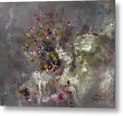 Mountain Flowers Metal Print by Ylli Haruni