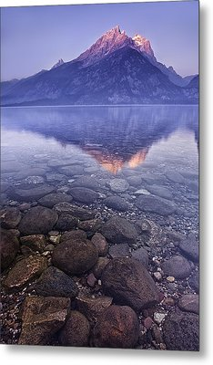 Mountain Lake Metal Print by Andrew Soundarajan