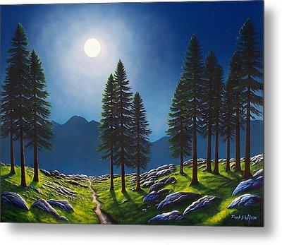 Mountain Moonglow Metal Print by Frank Wilson