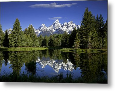 Mountain Reflections Metal Print by Andrew Soundarajan