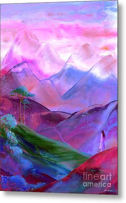 Mountain Reverence Metal Print by Jane Small