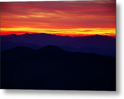 Mountain Ridges After Sunset Metal Print by Andrew Soundarajan