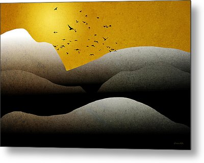 Mountain Sunrise Landscape Art Metal Print by Christina Rollo