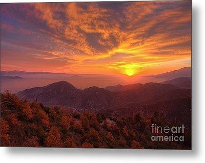 Mountain Sunset Metal Print by Eddie Yerkish