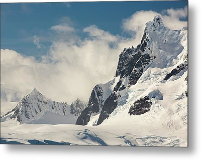 Mountains On The Antarctic Peninsular Metal Print by Ashley Cooper