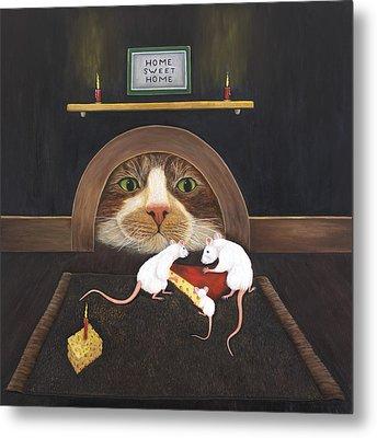 Mouse House Metal Print by Karen Zuk Rosenblatt
