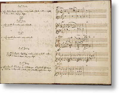 Mozart's Thematic Catalogue Metal Print by British Library