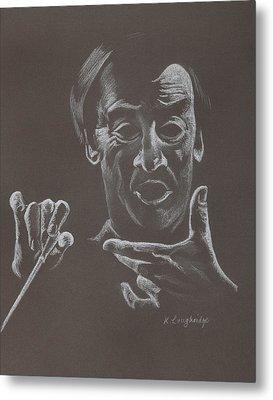 Mr Conductor Metal Print by Karen Loughridge KLArt