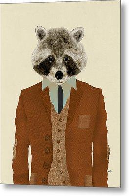 Mr Raccoon Metal Print by Bri B