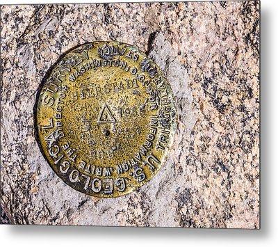 Mt. Bierstadt Survey Marker Metal Print by Aaron Spong