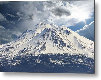 Mt Shasta Metal Print by Athala Carole Bruckner