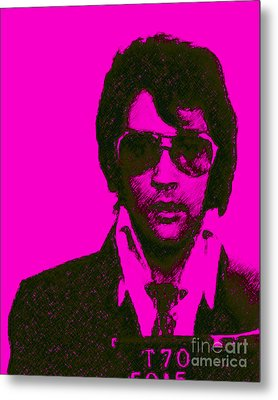 Mugshot Elvis Presley M80 Metal Print by Wingsdomain Art and Photography