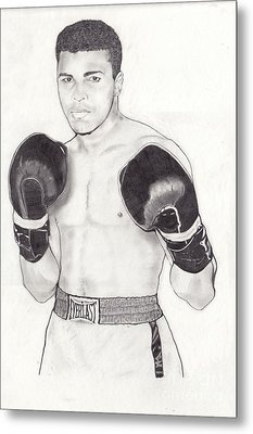 Muhammad Ali Metal Print by Vincent Turner