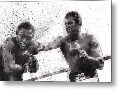 Muhammad Ali Vs Joe Frazier Metal Print by Daniel Hagerman