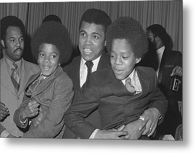 Muhammad Ali With Young Michael Jackson Metal Print by Brian Douglas