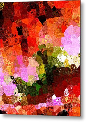 Multi Color Abstract Art Of Spots Metal Print by Mario Perez