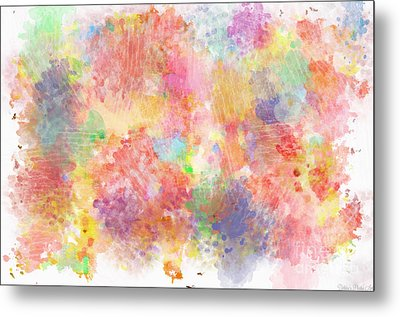Multi Colored Ditgital Abstract 5 Metal Print by Debbie Portwood