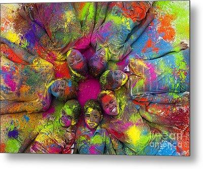 Multicoloured Boys Metal Print by Tim Gainey