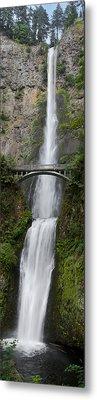 Multnomah Falls Vertical Panorama II Metal Print by Loree Johnson