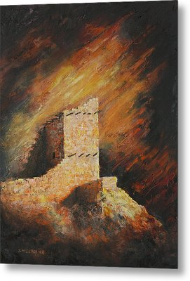 Mummy Cave Ruins 2 Metal Print by Jerry McElroy