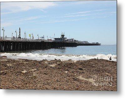 Municipal Wharf At The Santa Cruz Beach Boardwalk California 5d23769 Metal Print by Wingsdomain Art and Photography