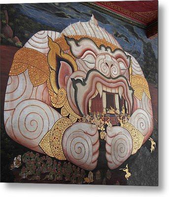 Mural - Grand Palace In Bangkok Thailand - 011311 Metal Print by DC Photographer