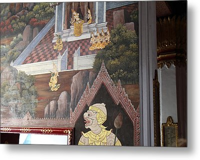 Mural - Grand Palace In Bangkok Thailand - 01133 Metal Print by DC Photographer