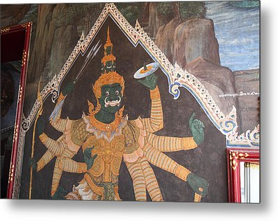 Mural - Grand Palace In Bangkok Thailand - 01134 Metal Print by DC Photographer