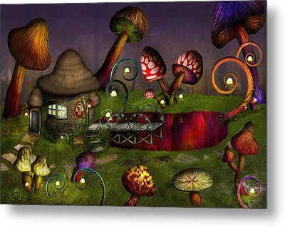 Mushroom - Deep In The Bayou Metal Print by Mike Savad