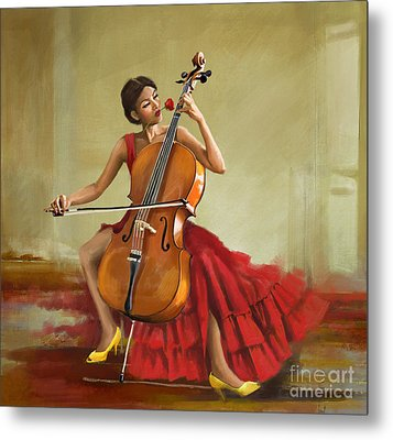 Music And Beauty Metal Print by Corporate Art Task Force