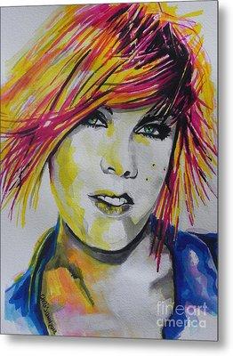 Music Artist..pink Metal Print by Chrisann Ellis