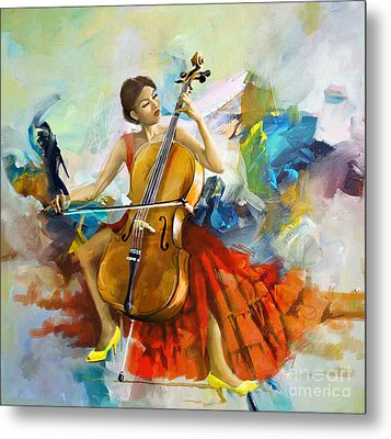 Music Colors And Beauty Metal Print by Corporate Art Task Force